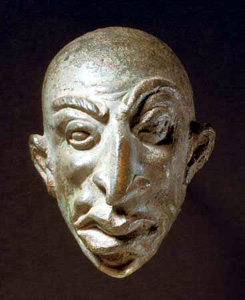 Roman Bronze  Grotesque Head