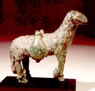 Roman Bronze Sculpture of a Ram