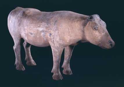 Western Han Terracotta Sculpture of an Ox