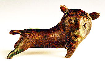 Benin Bronze Sculpture of a Lion