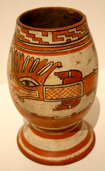 Papagayo Vessel With Serpent Motif