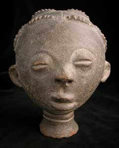 Akan Terracotta Funerary Head