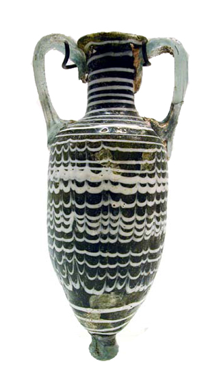 Sand-Core Formed Glass <i>Amphoriskos</i>