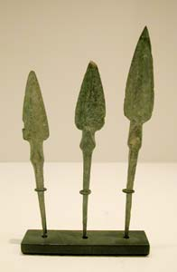 Set of Three Iron Age Bronze Arrow Heads