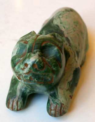 Olmec Jade Sculpture of a Jaguar