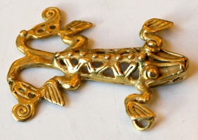 Gold Pendant in the Form of
