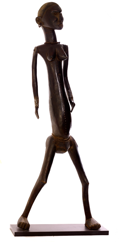 Nyamwezi Life-Size Wooden Sculpture of a Woman