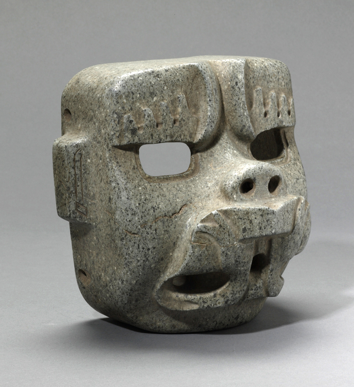 Olmec Stone Were-Jaguar Mask