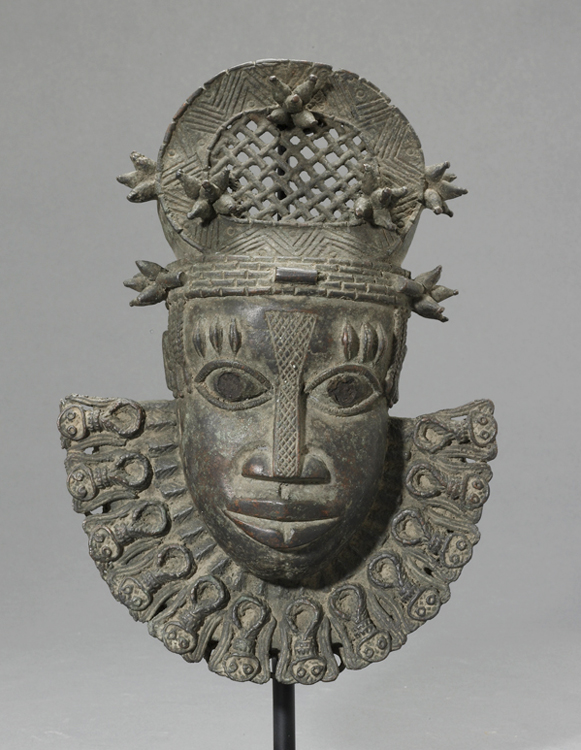 Benin Bronze Hip Mask