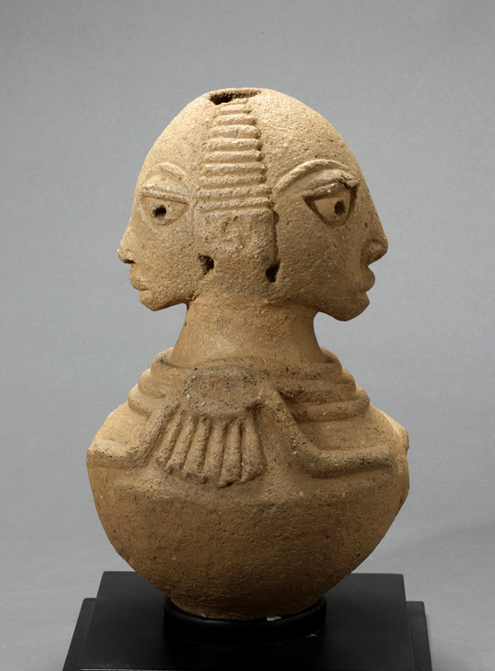 Nok Terracotta Jar Depicting Siamese Twins