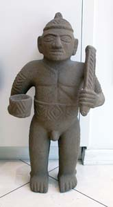Basalt Sculpture Of A Warrior