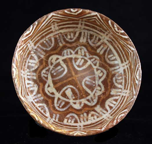 Nayarit Terracotta Bowl with Polychrome Designs