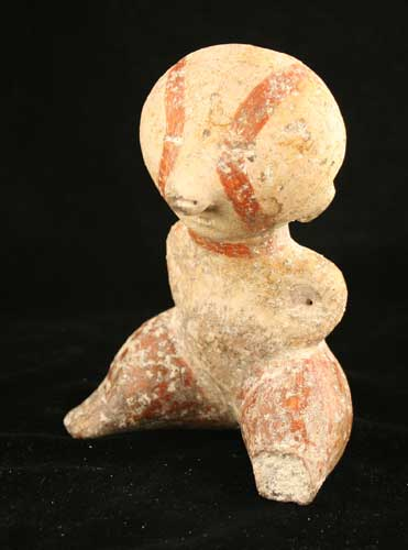 Chinesco Style (Type C) Nayarit Terracotta Seated Figure