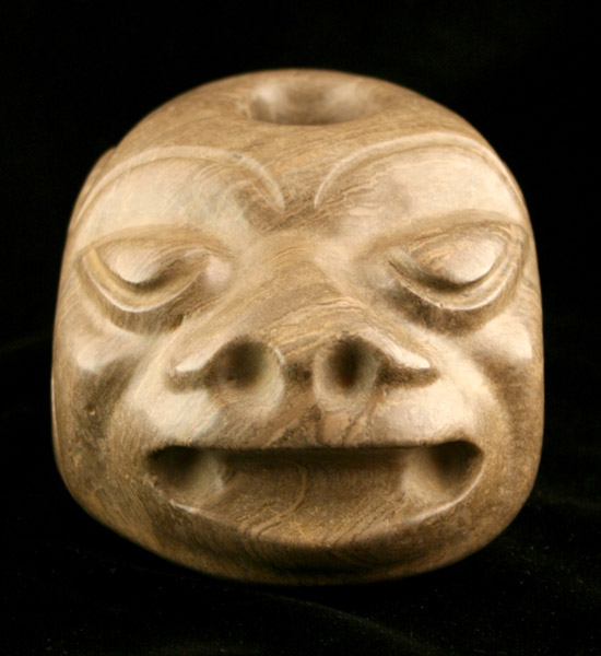 Stone Mace Head in the Form of a Monkey Head