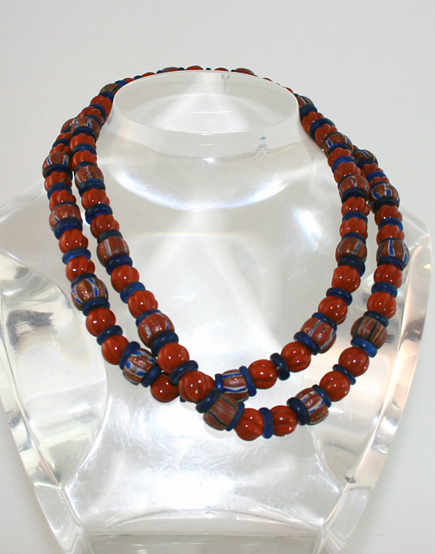 Venetian Glass Trading Beads And Jasper Beads