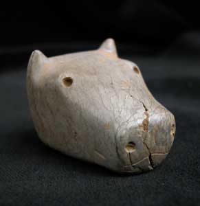 Bull's Head Votive Seal with an Intaglio