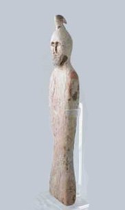 Man/Bird Votive Figure With An Intaglio