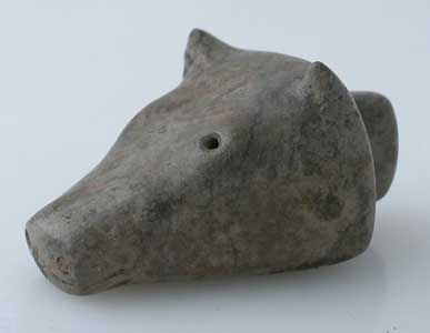 Animal Head Votive Seal With An Intaglio