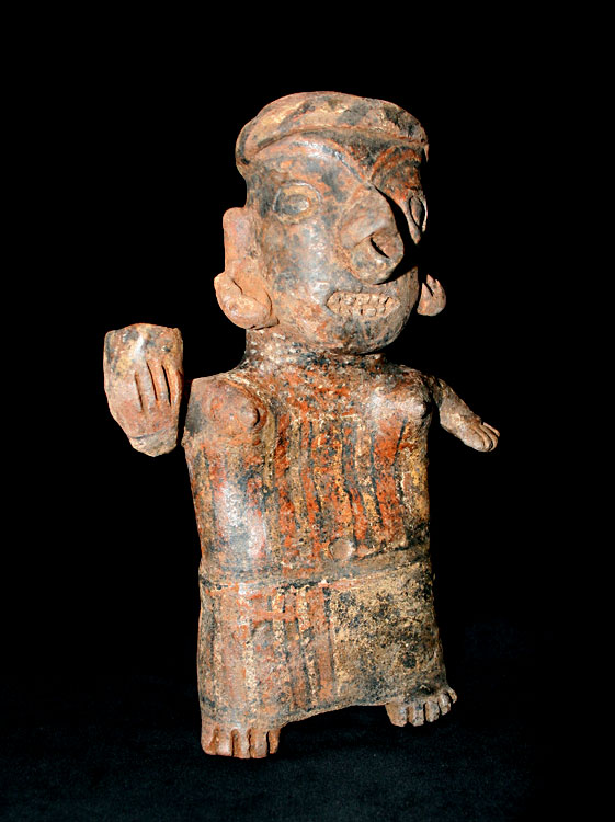Ixtlán del Rio Style Nayarit Sculpture of a Woman Holding a Vessel