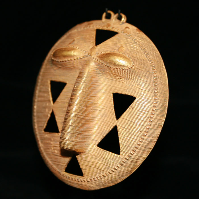 Akan Gold Pendant in the Form of a Face