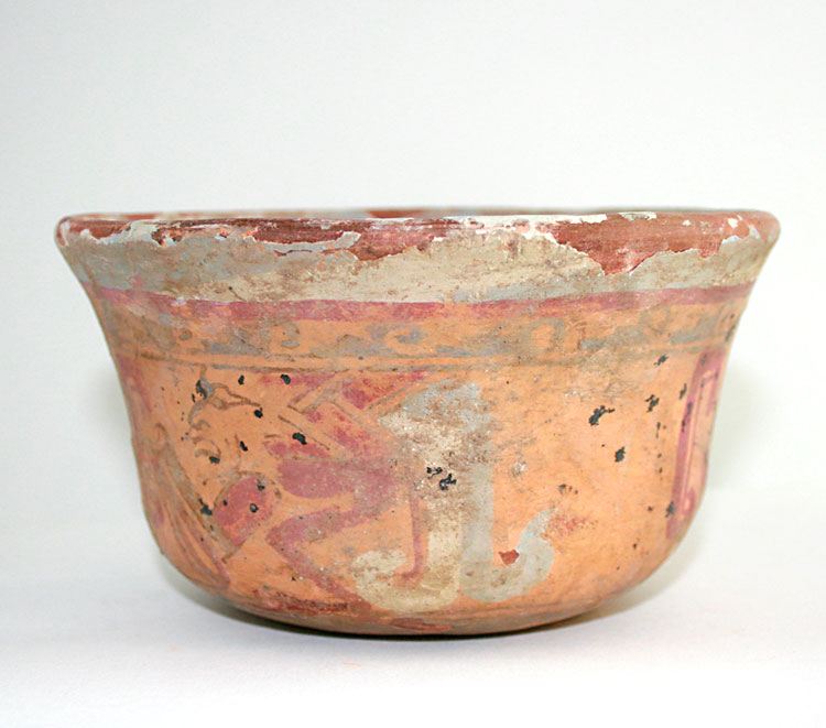 Mayan El Fresco Painted Bowl