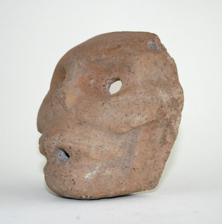 Mayan Basalt  Mask Depicting A Jaguar Face