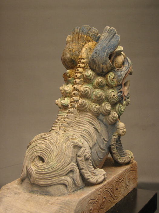 Ming Dynasty Painted Male Lion