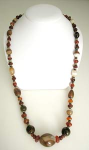 Carnelian, Jasper and Agate Bead Necklace