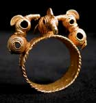 Akan Gold Ring Depicting Three Birds