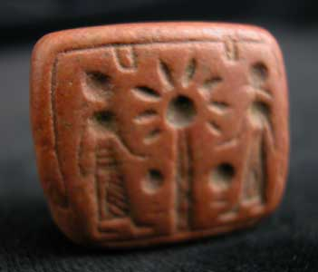 Red Jasper Rectangular Seal