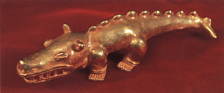 Chiriqui Gold Sculpture of a Crocodile