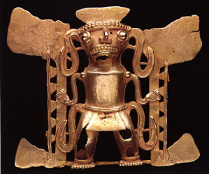 Gold Pendant of a Shaman