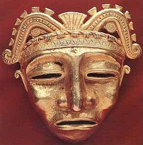 Gold Pendant of a Mask