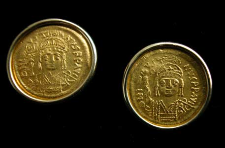 Two Gold Coins of Emperor Justin II
