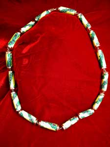 Necklace Of 16 Venetian Glass Beads