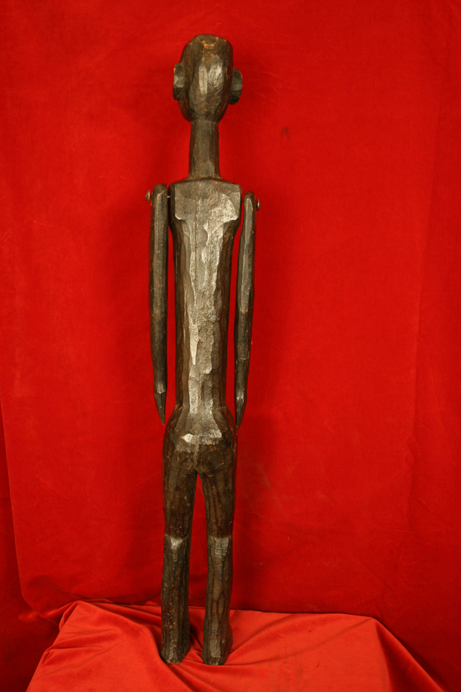 Nyamwezi Wooden Statue of a Woman with Movable Arms