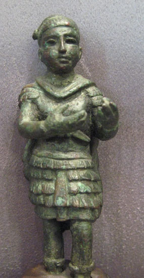 Roman Bronze Statuette of a Priest
