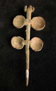 Luristan Bronze Pin with Rounded Protrusions