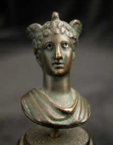 Roman Bronze Pendant of Mercury