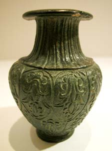 Roman Period Bronze Vessel with Floral Motif