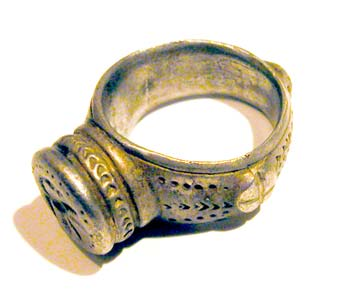 Byzantine Silver Seal Ring