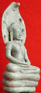 Khmer Buddha Meditating on Naga