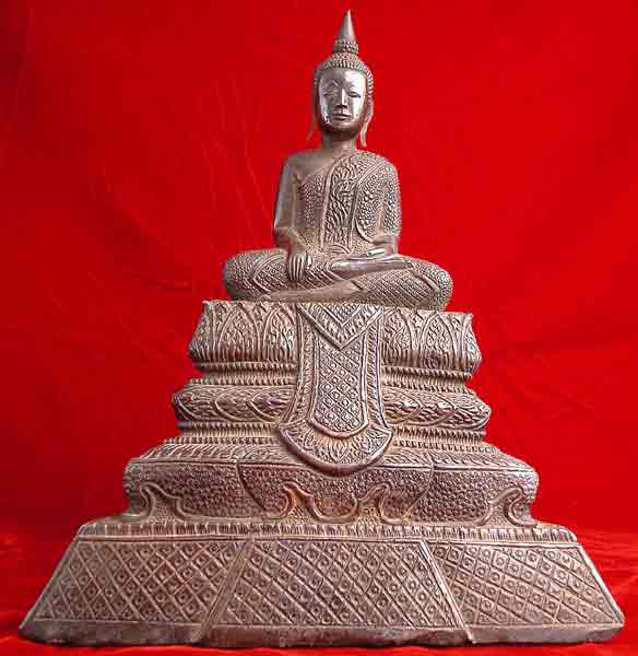 Silver Sculpture of the Buddha