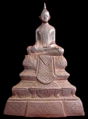 Cambodian Silver Sculpture of the Buddha