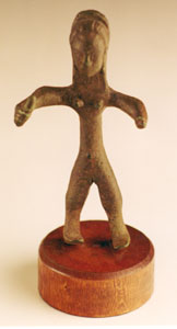 Iberian Bronze Votive of a Female Warrior