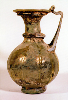 Roman Glass Jug With Strap Handle