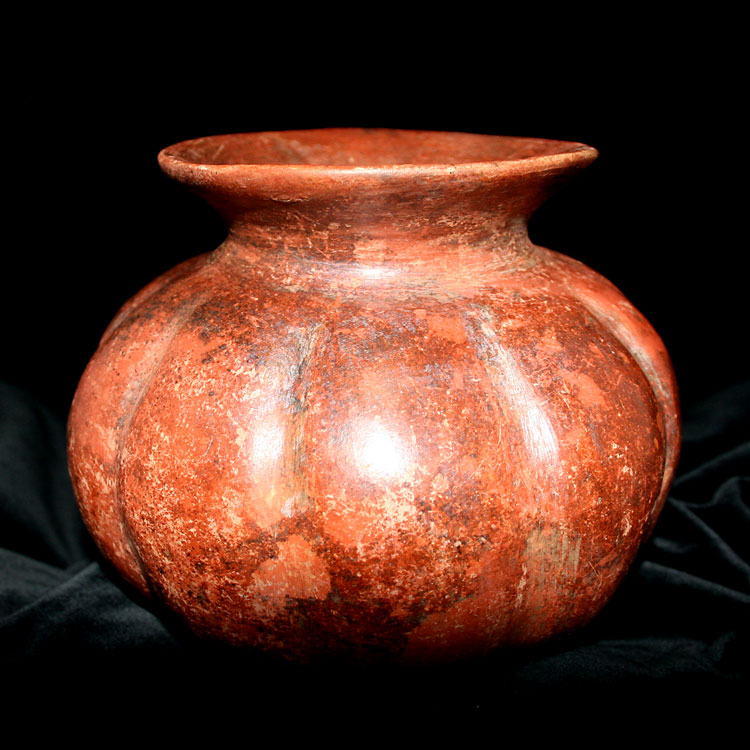 Colima Gourd Shaped Terracotta Vessel