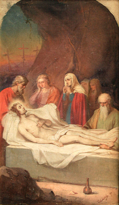 Painting of the Entombment