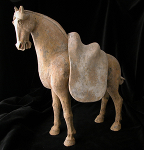 T'ang Terracotta Horse with Removable Saddle