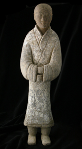 Western Han Terracotta Sculpture of an Attendant
